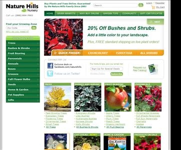 Create the perfect corner of flowers, grass, trees, shrubs and even fruit trees around the house with the plant nursery options available at Nature Hills Nursery. If you order over $99, this HOLIDAY99 code enables free shipping.